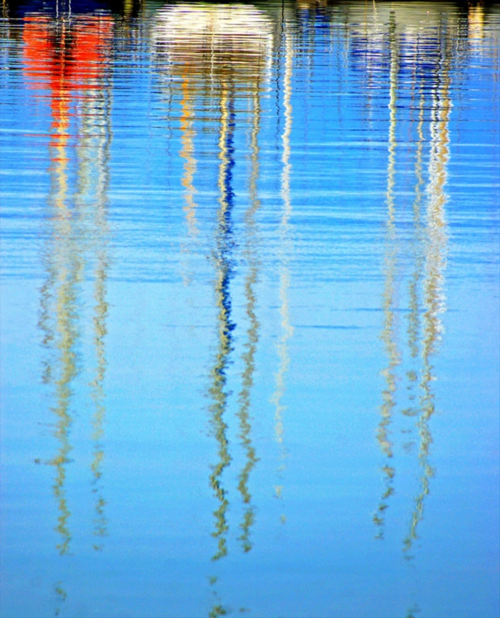 Sailing Boat Reflection in Greece