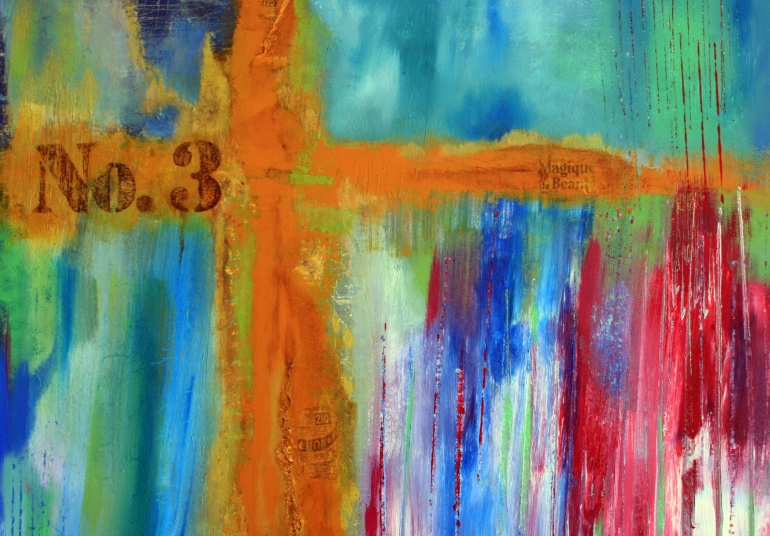 Ifigenia-abstract-acrylic-painting-blue-red